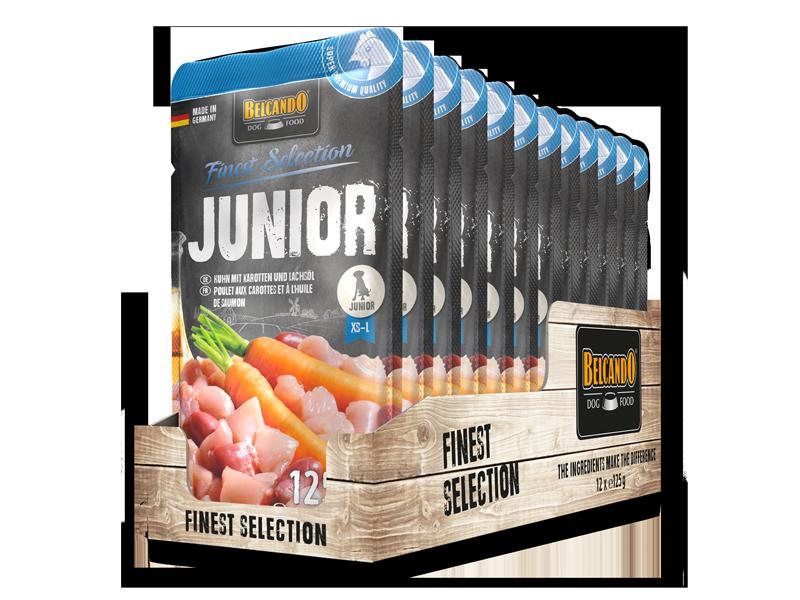BELCANDO® Junior Poulet aux carottes et à l'huile de saumon